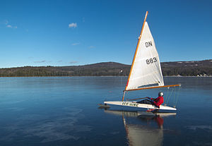 Sailing - DN class ice boat.