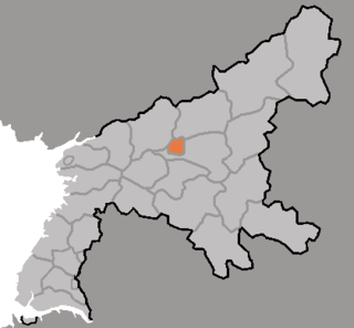 Tukchang District in South Pyŏngan, North Korea