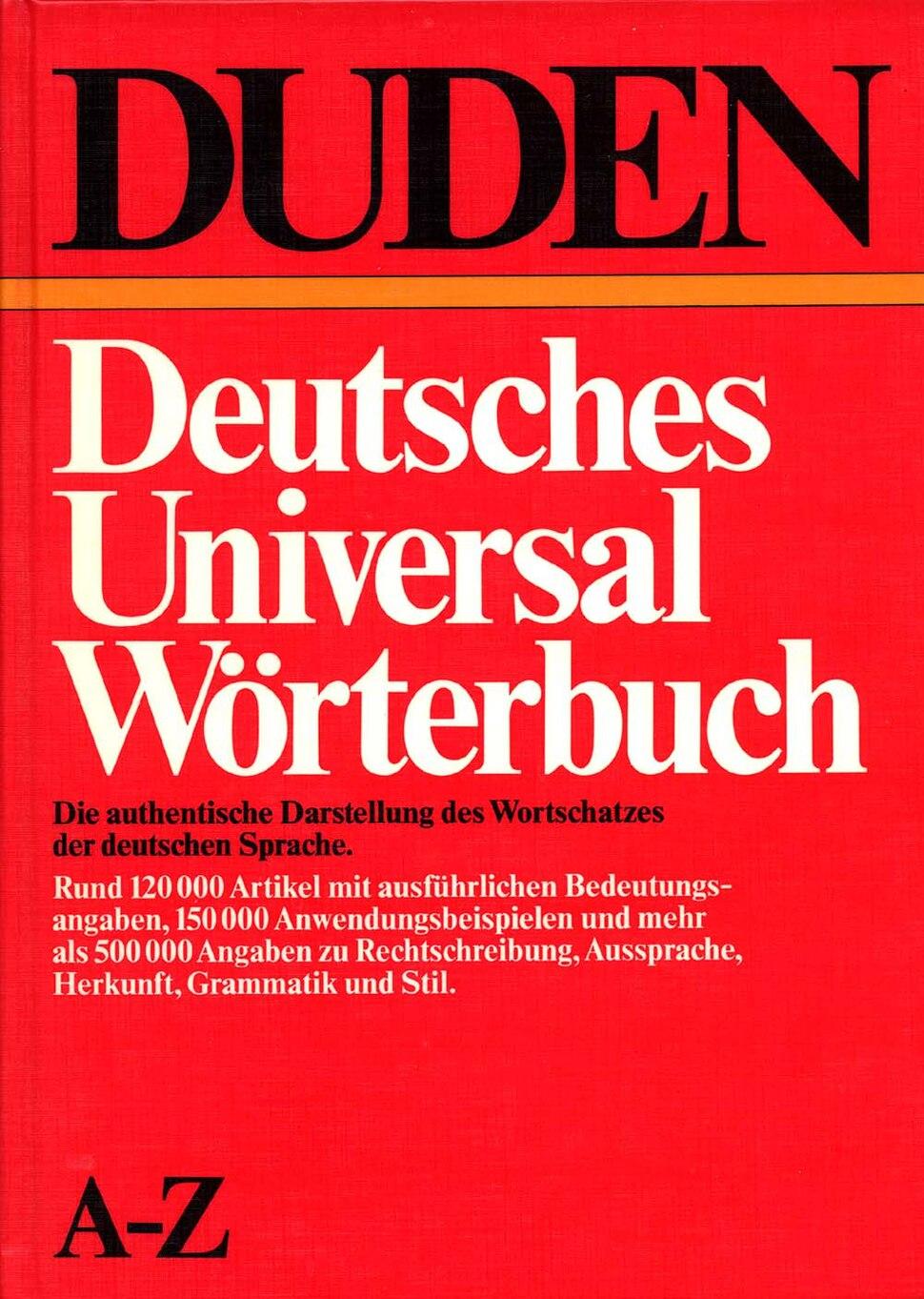 DUDEN Universal Wörterbuch 1983 a