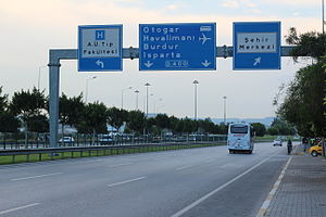 State road D.400 (Turkey) - In Antalya as Dumlupınar Bulvarı