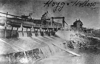 Hoggs Hollow - Dam on the Don River at Hogg's Hollow, 1900
