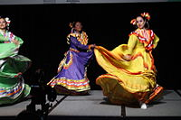 Dancing at the Wikimania 2015 Opening Ceremony IMG 7601.JPG