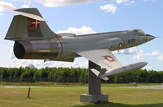 Aalborg Air Base - F-104 Starfighter at the entrance to Aalborg Air Base