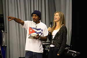 Danny John-Jules - John-Jules and Chloë Annett aka Kristine Kochanski from Red Dwarf in 2009