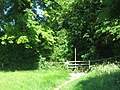 Darenth Valley Path enters Darenth Valley Golf Course - geograph.org.uk - 1331403.jpg