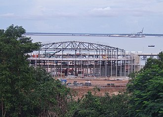 Darwin Convention Centre - Darwin Convention Centre under construction