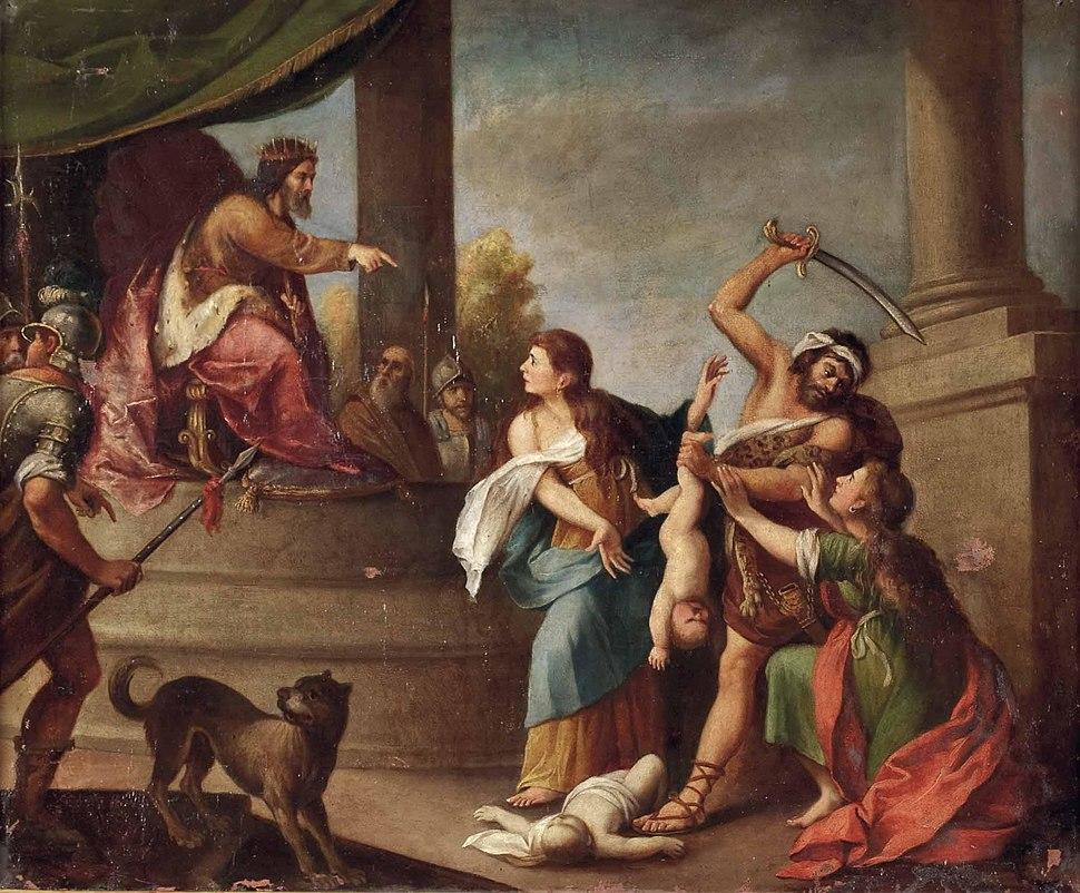 Das salomonische Urteil Italien 18Jh