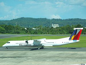 PAL Express - A PAL Express Bombardier Dash 8 Q400 at Francisco Bangoy International Airport, Davao City. (2008)