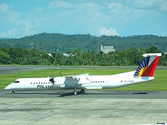 PAL Express - A PAL Express Bombardier Dash 8 Q400 at Francisco Bangoy International Airport, Davao City. (2008)