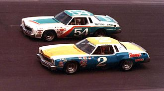 Lennie Pond - Pond in the No. 54 racing against Dave Marcis in 1978