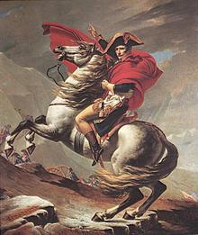 Jacques louis david 1748 – 1825 napoleon steek die sint bernard