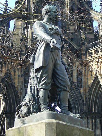 Amelia Robertson Hill - David Livingstone statue, Edinburgh by Amelia Robertson Hill