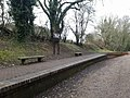Dawley and Stirchley platform in 2018, now part of the Silkin Way.jpg