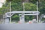 Deck crane of JS Syonan(AMS-5106) right side view at JMSDF Yokosuka Naval Base April 30, 2018.jpg