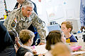 Defense.gov News Photo 100622-D-7203C-004 - Army Chief of Staff Gen. George W. Casey Jr. speaks with children at the Fort Belvoir Elementary School Va. on June 22 2010. Casey Secretary of.jpg