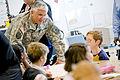 Defense.gov News Photo 100622-D-7203C-004 - Army Chief of Staff Gen. George W. Casey Jr. speaks with children at the Fort Belvoir Elementary School Va. on June 22 2010. Casey Secretary of.jpg