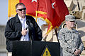 Defense.gov News Photo 101026-D-7203C-016 - Deputy Secretary of Defense William J. Lynn III addresses a group of more than 200 deployed U.S. Army soldiers in Baghdad, Iraq, on Oct. 26, 2010.jpg