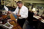 Defense.gov News Photo 120628-D-TT977-052 - Secretary of Defense Leon E. Panetta works in his office he receives an update from Army Gen. Charles H. Jacoby Jr. commander Northern Command.jpg