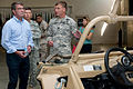 Defense Secretary Ash Carter is briefed by Army Capt. Virgil Barnard on the capabilities of the Polaris MRZR-4 light tactical all-terrain vehicle during a visit to Fort Bragg, N.C., July 10, 2015 150710-A-KS445-019A.jpg