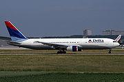 A Delta Boeing 767-300ER at Stuttgart, Germany