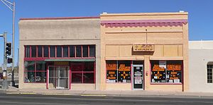 National Register of Historic Places listings in Luna County, New Mexico - Image: Deming, New Mexico, 101 and 103 E. Pine from S 1