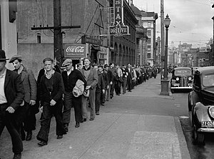 Bloody Sunday (1938) - Unemployed protesters parading back to the East End on Bloody Sunday