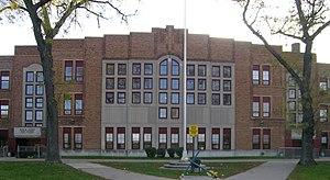 Denby High School - Image: Denby High School Detroit MI facade