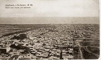 Derbent - View of the city from the citadel of Naryn-Kala, 1910s