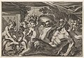 Design for a Panel with a Satyr Drinking from a Vase held up by a Putti, from- Feuillages et autres ornements MET DP834195.jpg