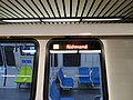 Destination sign on new BART car, March 2018.JPG