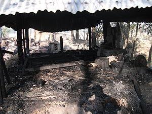 2013 Bangladesh anti-Hindu violence - Destroyed Hindu temple in Banshkhali Upazila. Courtesy: Samaresh Baidya