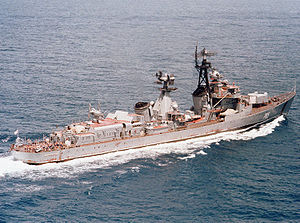 SAM Kotlin class destroyer Vozbuzhdenyy.