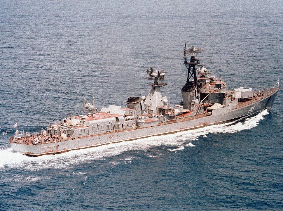 SAM Kotlin class destroyer Vozbuzhdenyy.