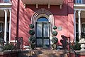 Detail of front entrance, Montfort Hall, Raleigh NC 02.jpg