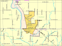 Detailed map of Mulvane, Kansas