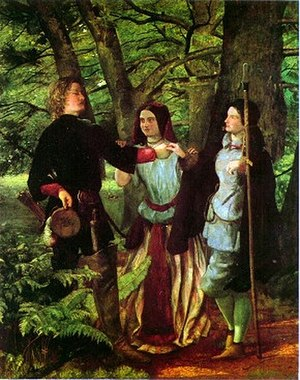 Orlando (As You Like It) - The Mock Marriage of Orlando and Rosalind by Walter Howell Deverel.