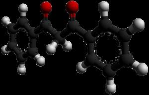 Dibenzoylmethane - Image: Dibenzoylmethane 3D balls by AHRLS 2012