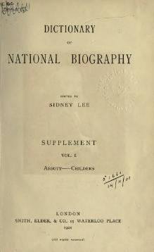 Dictionary of National Biography. Sup. Vol I (1901).djvu