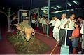 Dignitaries Watching Ankylosaurus - Dinosaurs Alive Exhibition - Science City - Calcutta 1995-06-15 030.JPG