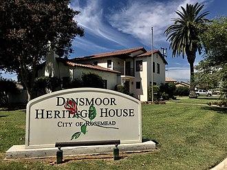 Rosemead, California - Image: Dinsmoor Heritage House and Museum Rosemead California