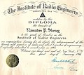 Diploma - Institute of Radio Engineers, New York- R P SHENOY.jpg
