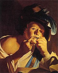 Man Playing a Jew's Harp
