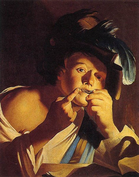 Archivo:Dirck Van Baburen - Jeune Garçon jouant de la guimbarde.jpg