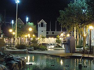 Disney's Beach Club Resort - Disney's Beach Club Resort at night