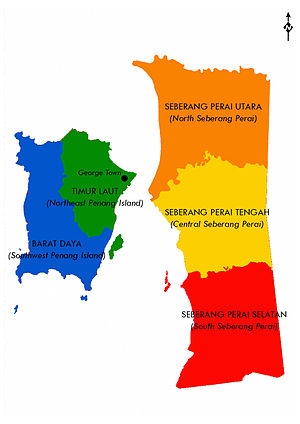 Districts of Malaysia - Districts in Penang