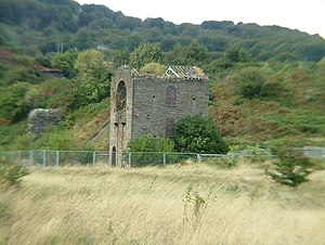 Abersychan - Disused pumping engine house at British Colliery