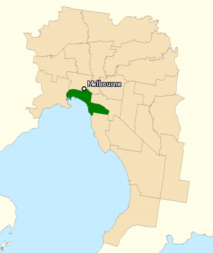 Division of Melbourne Ports - Division of Melbourne Ports in Victoria, as of the 2016 federal election.