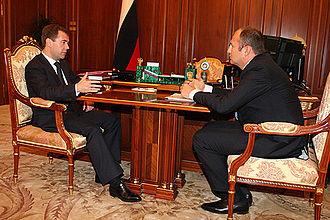 Andrey Melnichenko - Dmitry Medvedev and Andrey Melnichenko