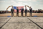 President Donald J. Trump participates in the groundbreaking ceremony of the Foxconn Facility