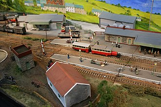 3 ft gauge rail modelling - An OOn3 model of Donegal on the County Donegal Railway as around 1950. Layout by Alan Gee.